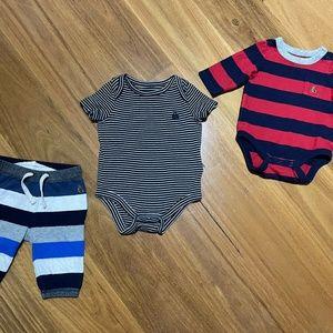 Baby Gap Striped Bodysuit Bundle